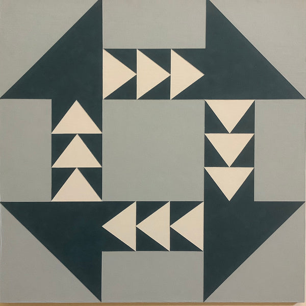 "Large Barn Quilt ""Churning Geese"" Pattern 2' x 2'"