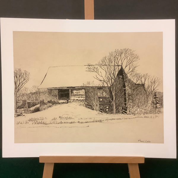 """Old Barn in Belleville"" Print, Thomas Contino, Canton, NY"