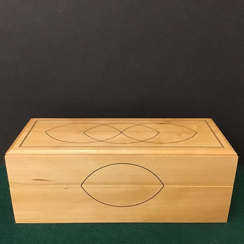 Beech Box with String Inlay, Bill Smithers, Hammond, NY