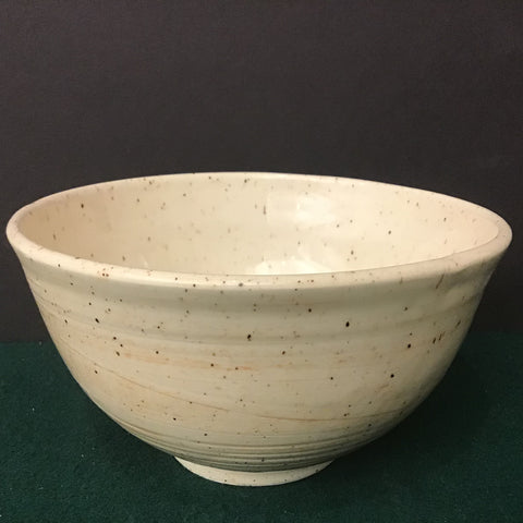"Tall Bowl in Creams with ""Chattering"", Linda Petroccione, DeKalb Junction, NY"