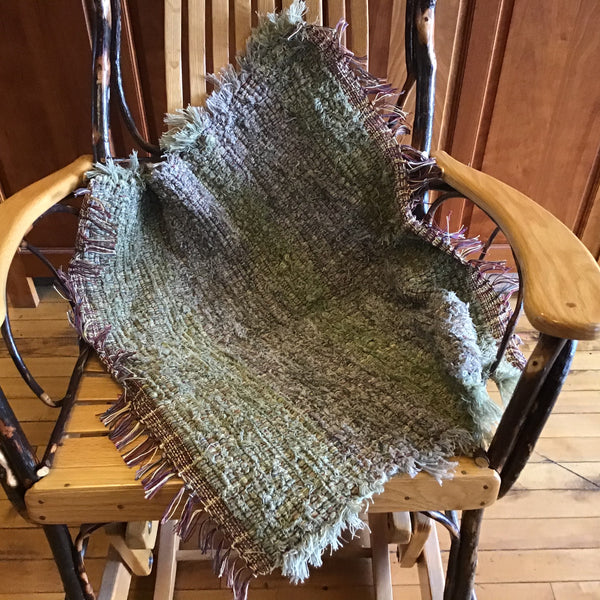 """Upcycled"" Woven Rug in Gray Greens, Connie Denney, Rocky Bottom Rustic Crafts"
