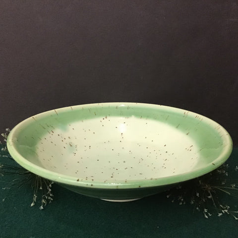 Shallow Bowl in Pale Greens,  Linda Petroccione, DeKalb Junction, NY