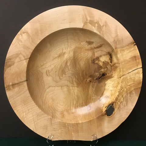 Large wide Rim Plate/Shallow Bowl, David Buchholz, Augur Lake, Keeseville, NY