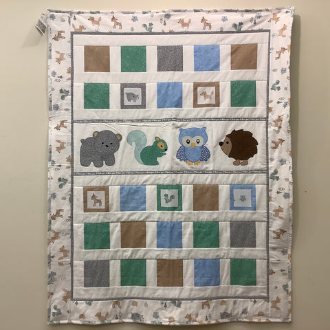 "Crib Quilt ""Forest Friends"", Joanne Ott, Hammond, NY"