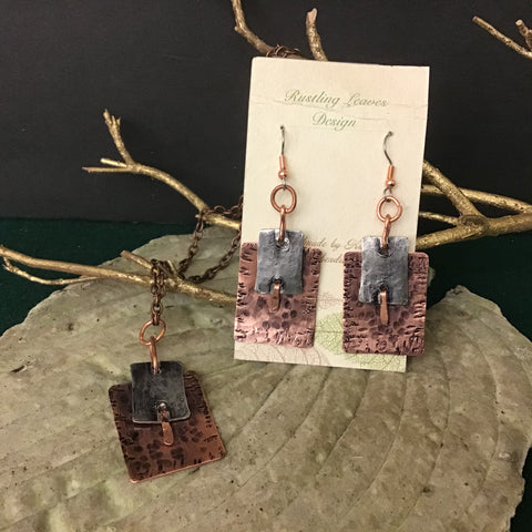Copper and Pewter Jewelry, Kathy Lahendro, Potsdam, NY