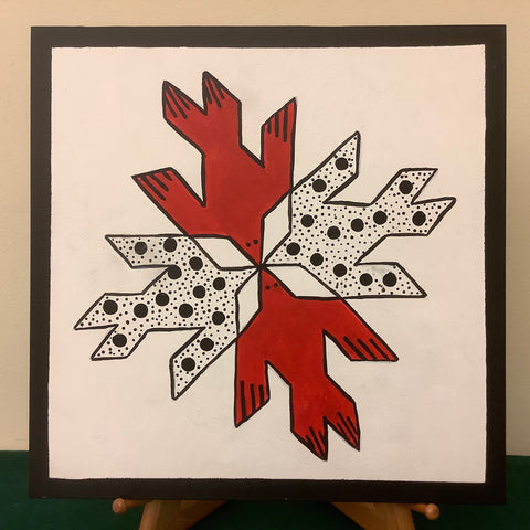 "Small Barn Quilt ""Doves in the Window"" Pattern 1' X 1', Joan Olin, Canton, NY"