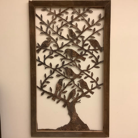 """Tree of Birds"" metal wall art, James Gonzalez"