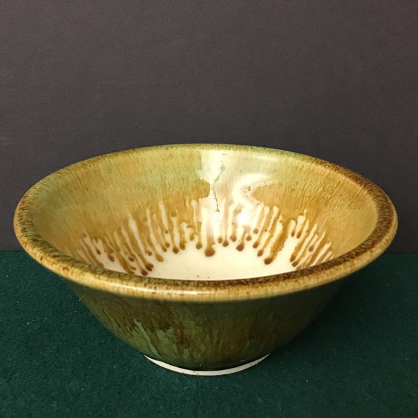 Bowl in Pale Greens and Browns with Cream Interior,  Linda Petroccione, DeKalb Junction, NY