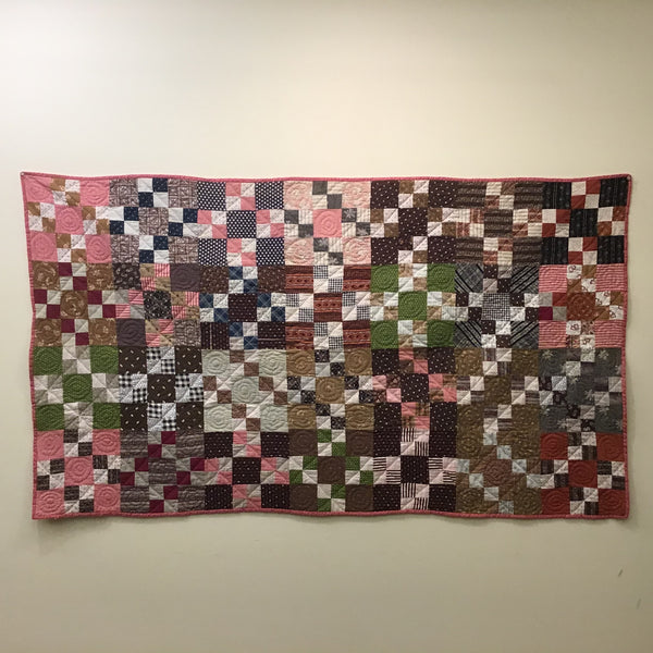 Quilt, Top From 1880's with Hand Stitched Design, Becky Ellis, Pierrepont Manor, NY