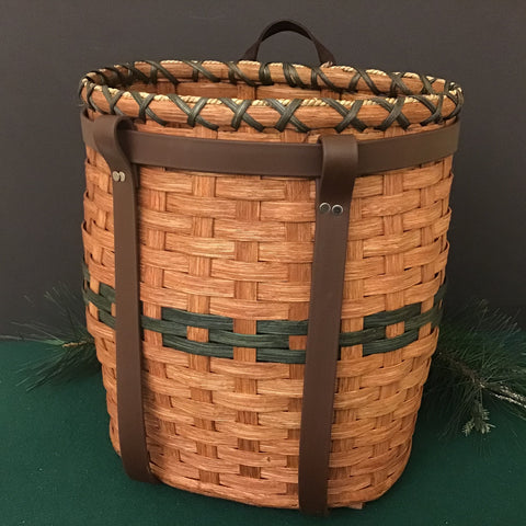 Medium/Large Adirondack Pack Basket with Straps, Jonas S. Miller, Heuvelton, NY