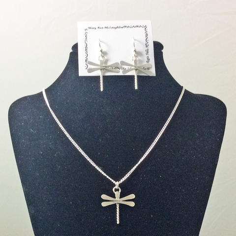 SIlver Dragonfly Jewelry