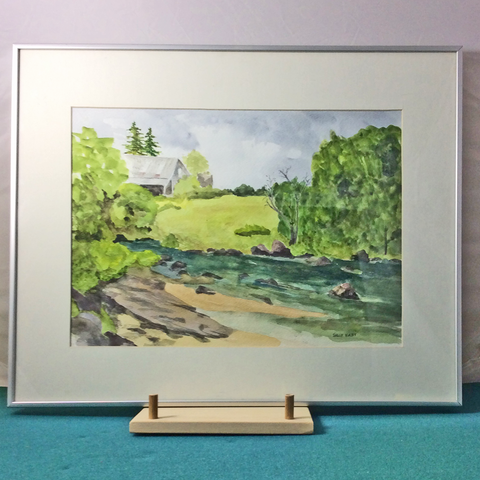 """View from Willow Island"" Original Watercolor"