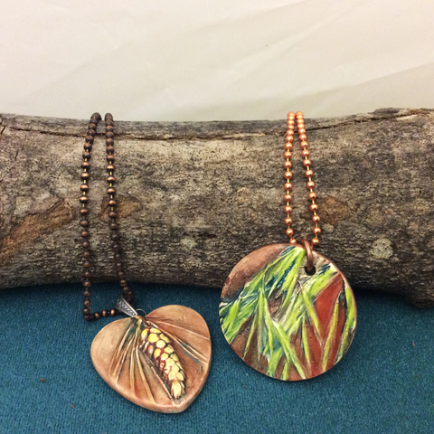 Ceramic Pendants with Ball Chains