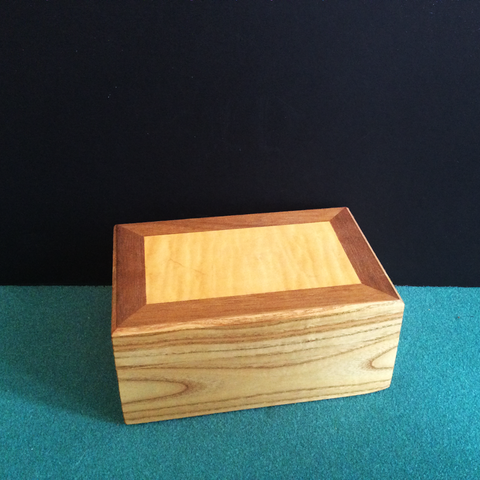 Small Walnut And Curly Maple Box