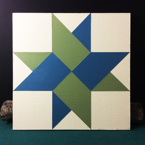 Small Barn Quilt Arctic Star Pattern 1' X 1'