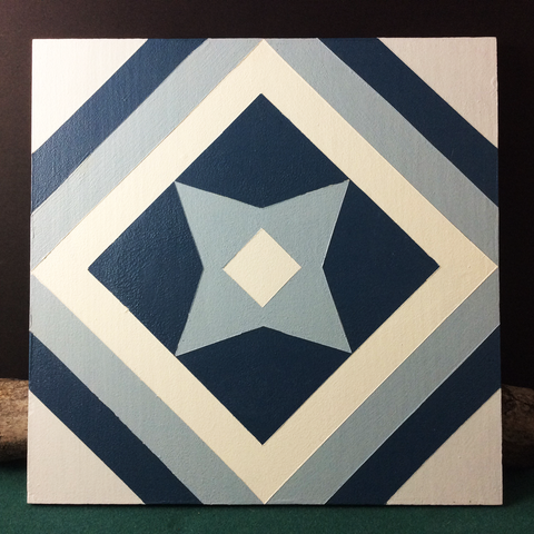 Small Barn Quilt Traditional Snowflake Pattern 1' X 1'
