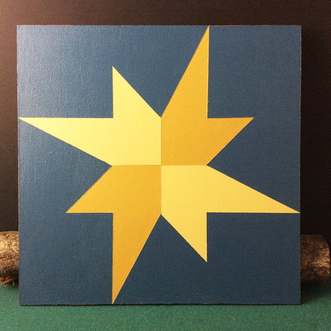 Small Barn Quilt Galaxy Star Pattern 1' X 1'