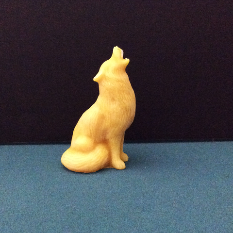 Wolf Beeswax Candle