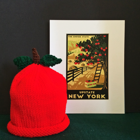 Hand Knitted Apple Baby Hat, Francine King, Cape Vincent, NY