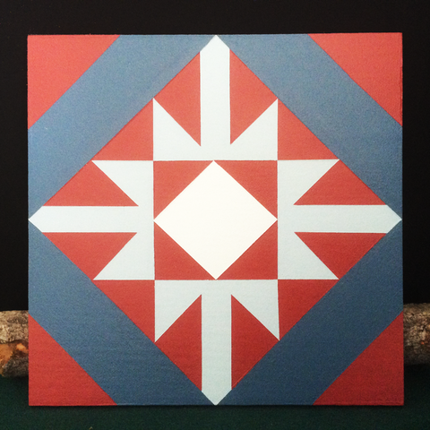 Small Barn Quilt Old Snowflake Pattern 1' X 1'