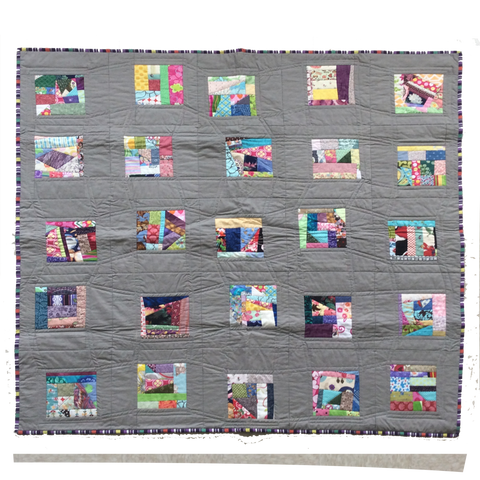 """Story Time"" wall hanging quilt"
