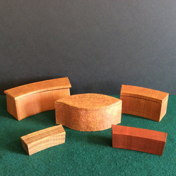 Assorted Bandsaw Boxes, Bill Smithers, Hammond, NY