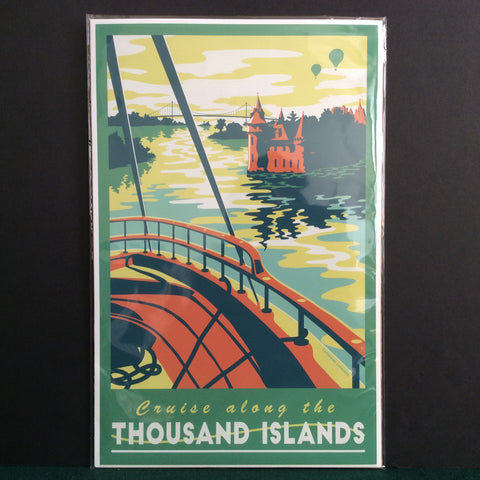 Vintage Travel Poster Thousand Islands, Catherine LaPointe, Potsdam, NY