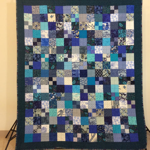 """Land and Sea"" Quilt, Short Twin"