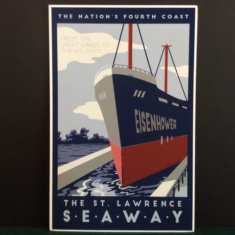 Vintage Travel Poster St. Lawrence Seaway, Catherine LaPointe, Potsdam, NY
