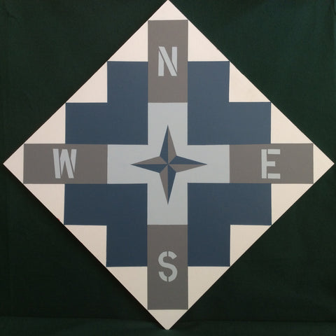 "Large Barn Quilt ""Chimney Sweep"" Pattern 2' x 2'"