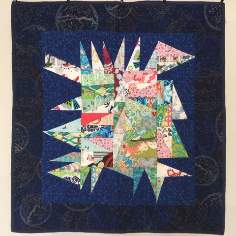 """Feathered Star"" wall hanging"