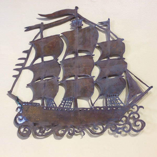 Clipper Ship metal wall art
