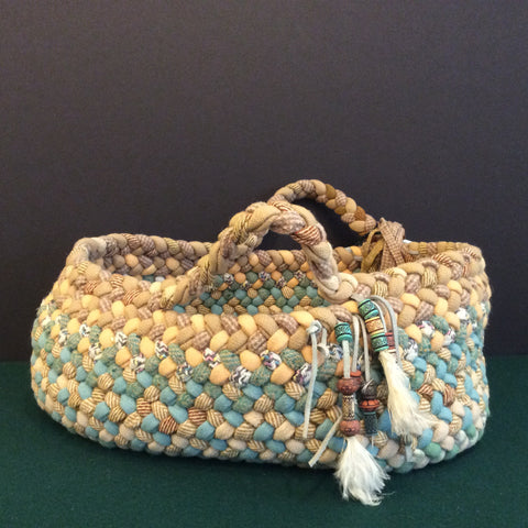 Carry Me Home Braided Basket in Pastels