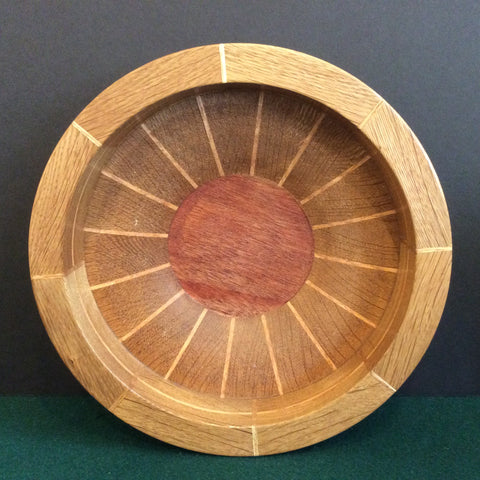 Segmented Bowl, Red Oak, Frank DiLeonardo, Watertown, NY