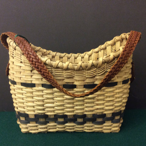 Carrier Basket, with Dark Navy Details, Sue Ulrich, Boonville