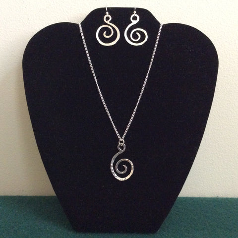 Silver Open Swirl Jewelry