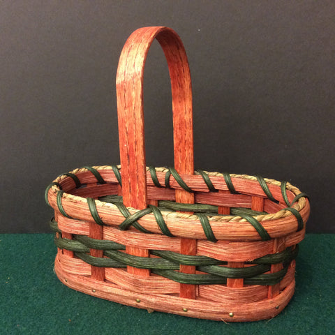 Oval Handled Basket, Mose and Anna Miller, Lisbon, NY