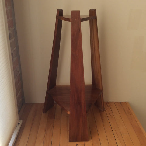 Contemporary Walnut Stand, Frank DiLeonardo, Watertown, NY