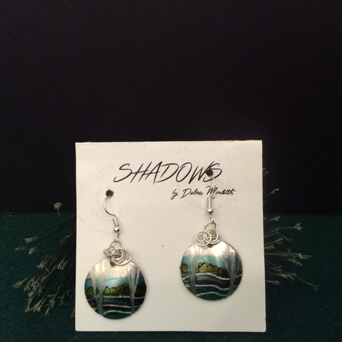 Textured Earrings Landscape with Trees, Debra Monteith, Morristown, NY