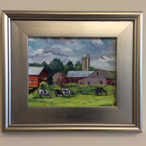 """Farm Scene"", Oil on Canvas"