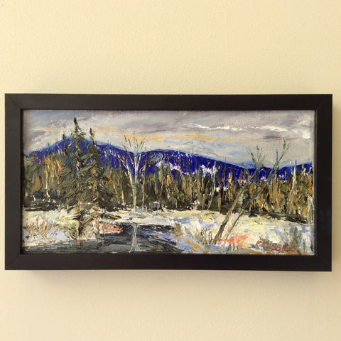 Adirondack Winter Scene, Oil on Canvas by Kevin Gibbons