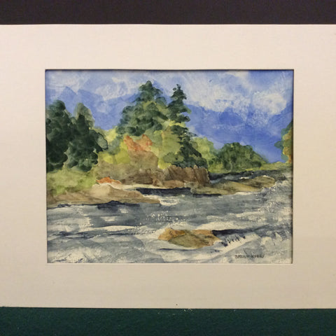 """Grasse River"", Original Watercolor"