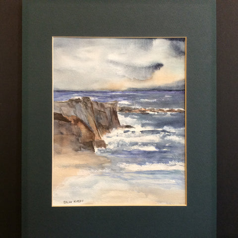"""Rock Cliff"", Original Watercolor, Sally Kirby, Canton, NY"