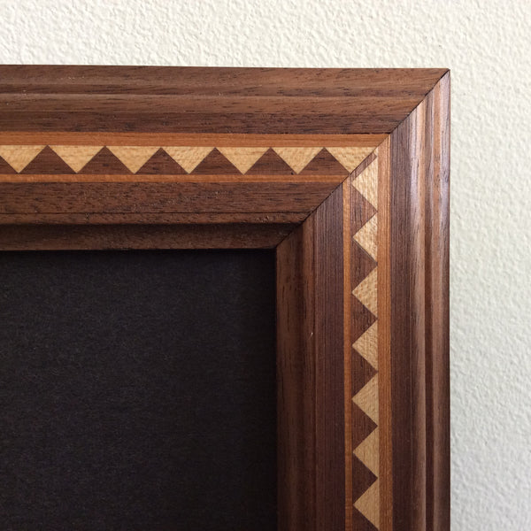 Inlaid Maple Picture Frame with Glass, Glenn Sova,Norfolk, NY