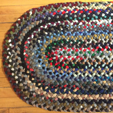 Braided Oval Rug, Mixed Colors, Debbie Orland, Colton, NY
