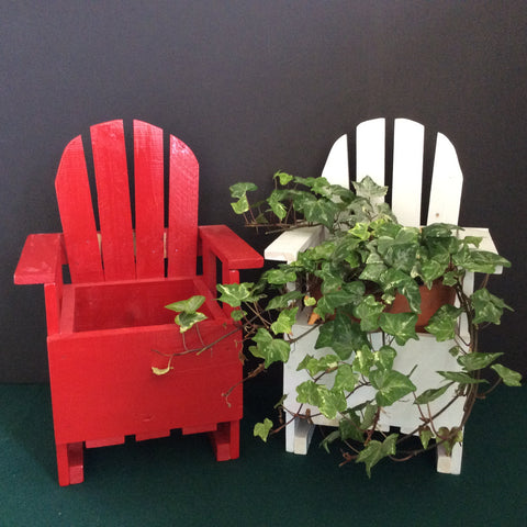 Assorted Adirondack Chair Planters, Andrew Miller,