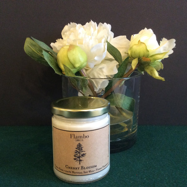 Cherry Blossom Soy Candle, Flambo Candle Co., Norfolk, NY