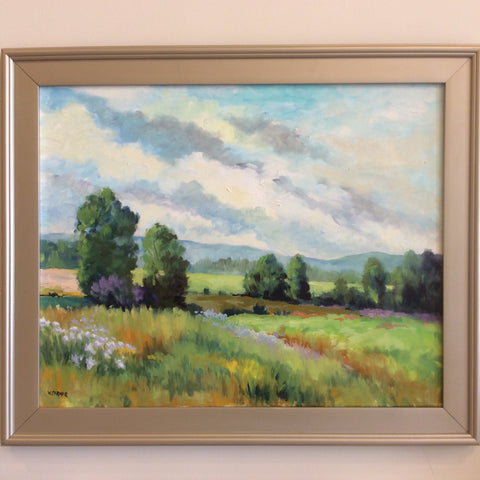 """Late Summer Meadow"" Oil on Canvas"
