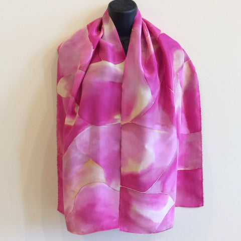 Silk Scarf Hot Pinks and Yellows
