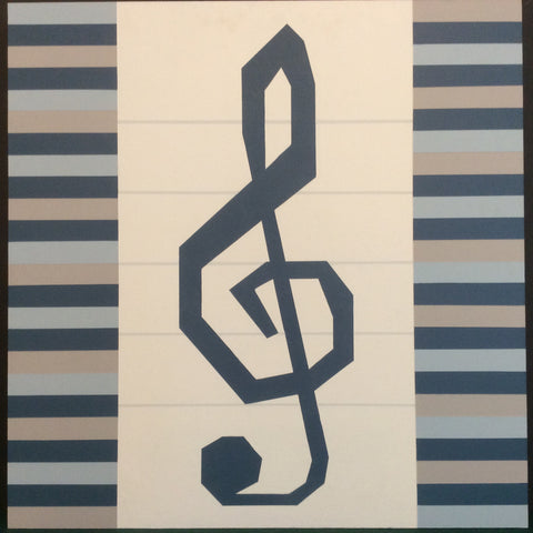 "Large Barn Quilt ""Piano Blues"" Pattern 2' x 2'"